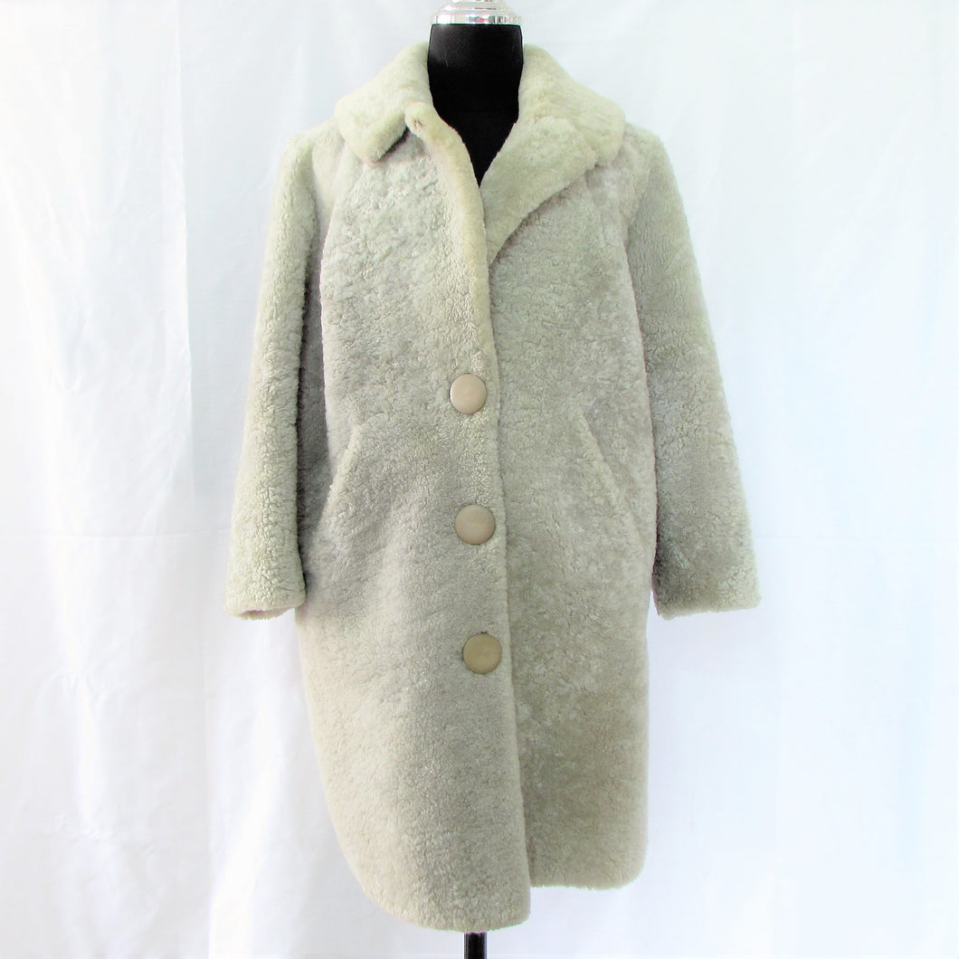 GREY SHEEPSKIN COAT
