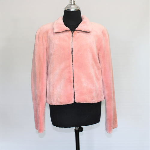 SHEARED REX LAPIN REVERSIBLE JACKET