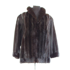 DARK RANCH MINK SHREDDED JACKET
