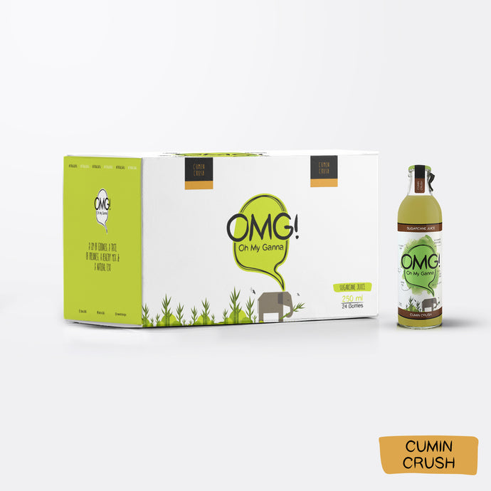 OMG! Sugarcane Juice - Cumin Crush 24 Bottle Case