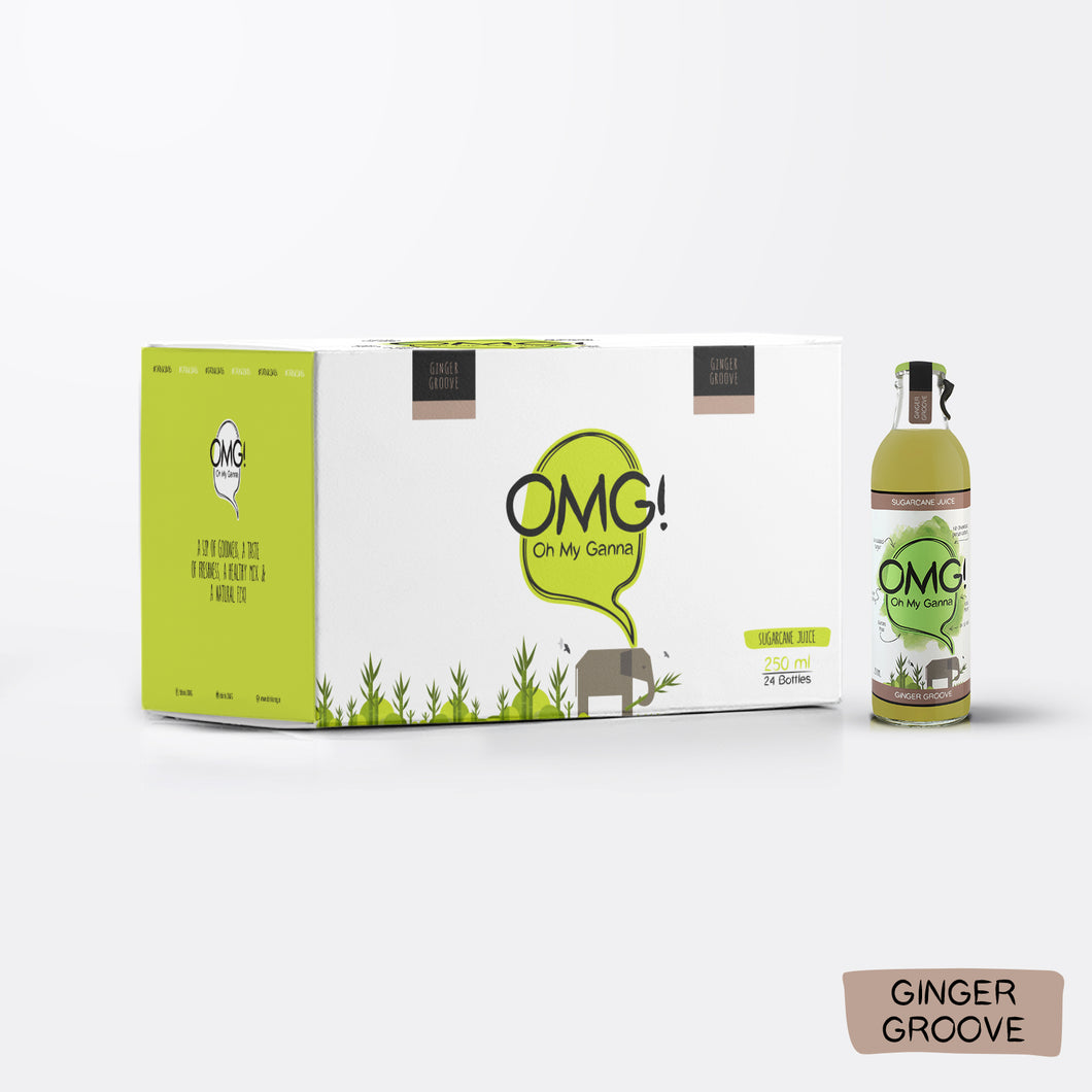 OMG! Sugarcane Juice - Ginger Groove 24 Bottle Case
