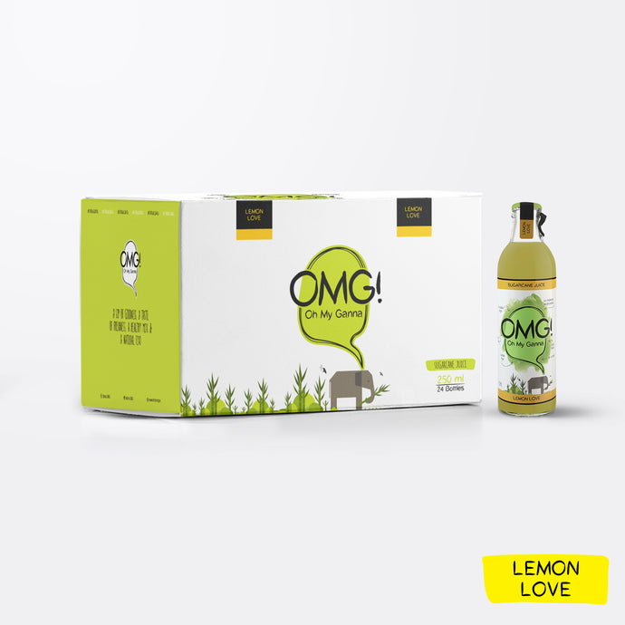 OMG! Sugarcane Juice - Lemon Love 24 Bottle Case