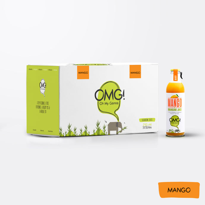 OMG! Mango Fruit Juice 24 Bottle Box