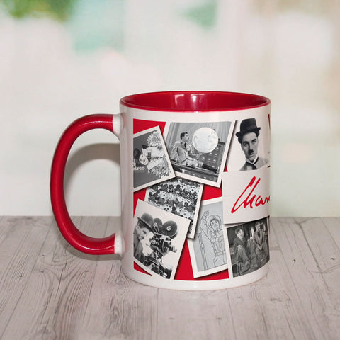 Charlie Chaplin Photo Montage Coloured Insert Mug (Lifestyle)