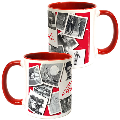 Charlie Chaplin Photo Montage Coloured Insert Mug