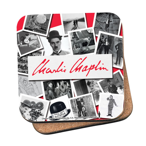 Charlie Chaplin Photo Montage Coaster
