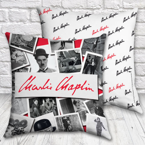 Charlie Chaplin Photo Montage Cushion (Lifestyle)