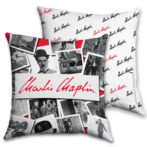 Charlie Chaplin Photo Montage Cushion