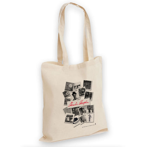 Charlie Chaplin Photo Montage Tote Bag