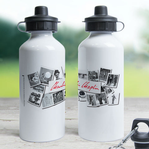 Charlie Chaplin Photo Montage Water Bottle (Lifestyle)