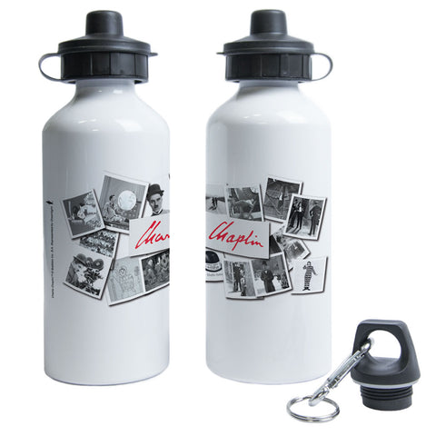 Charlie Chaplin Photo Montage Water Bottle