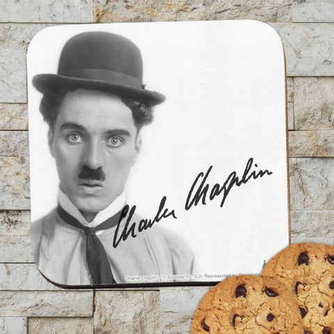 Charlie Chaplin Classic Signature Coaster (Lifestyle)