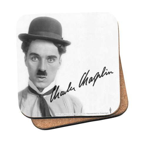 Charlie Chaplin Classic Signature Coaster