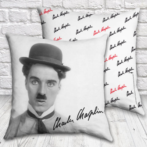 Charlie Chaplin Classic Signature Cushion (Lifestyle)