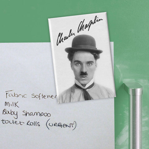 Charlie Chaplin Classic Signature Magnet (Lifestyle)