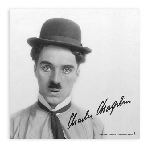 Charlie Chaplin Classic Signature Mounted Art Print