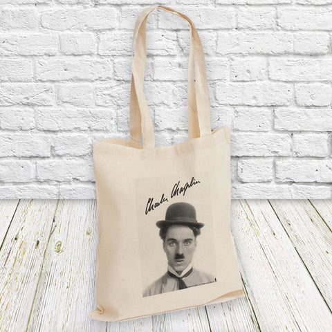 Charlie Chaplin Classic Signature Tote Bag (Lifestyle)