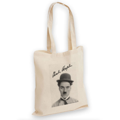 Charlie Chaplin Classic Signature Tote Bag
