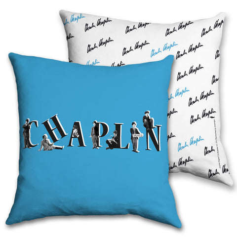 Charlie Chaplin Blue Cushion