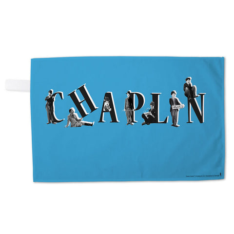 Charlie Chaplin Blue Tea Towel