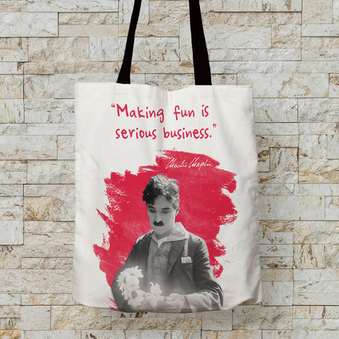 Charlie Chaplin Making Fun Is Serious Business Premium Tote (Lifestyle)