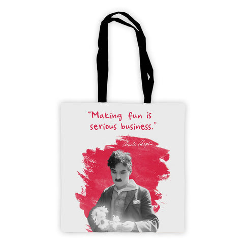 Charlie Chaplin Making Fun Is Serious Business Premium Tote