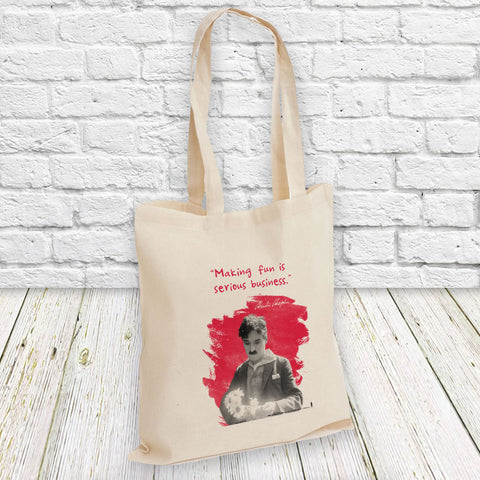 Charlie Chaplin Making Fun Is Serious Business Tote Bag (Lifestyle)