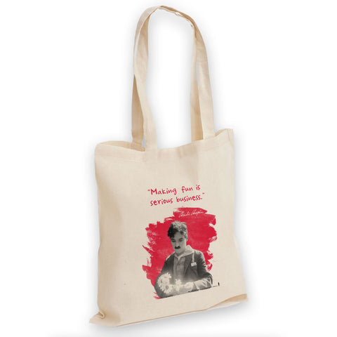Charlie Chaplin Making Fun Is Serious Business Tote Bag