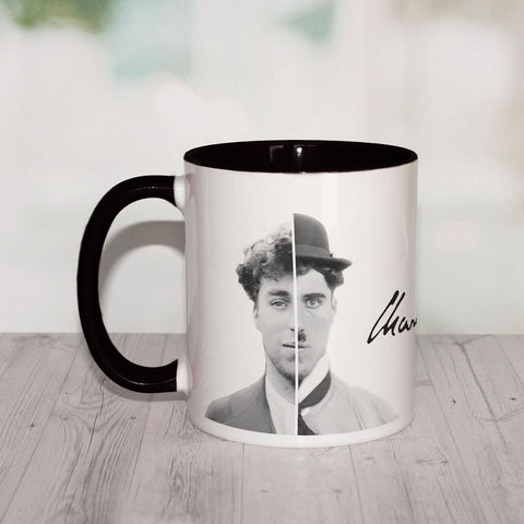 Charlie Chaplin Cinematic Icon Coloured Insert Mug (Lifestyle)