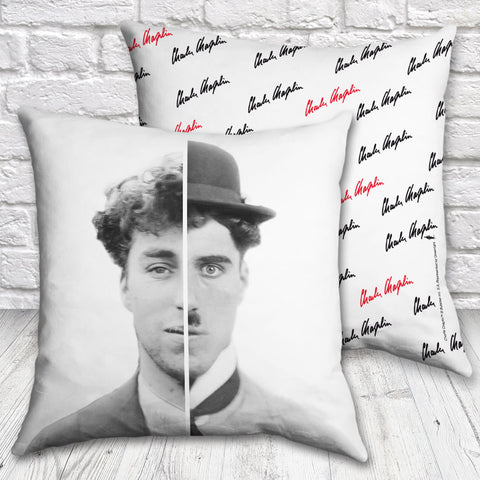 Charlie Chaplin Cinematic Icon Cushion (Lifestyle)