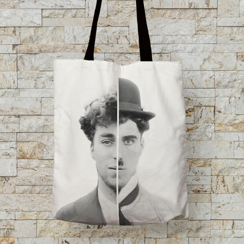 Charlie Chaplin Cinematic Icon Premium Tote (Lifestyle)