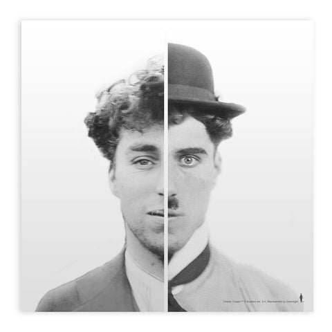 Charlie Chaplin Cinematic Icon Mounted Art Print