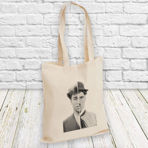 Charlie Chaplin Cinematic Icon Tote Bag (Lifestyle)