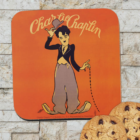 Charlie Chaplin Poster Coaster (Lifestyle)