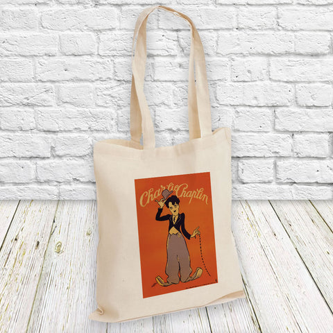 Charlie Chaplin Poster Tote Bag (Lifestyle)