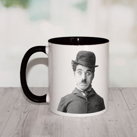 Charlie Chaplin Storyteller Coloured Insert Mug (Lifestyle)