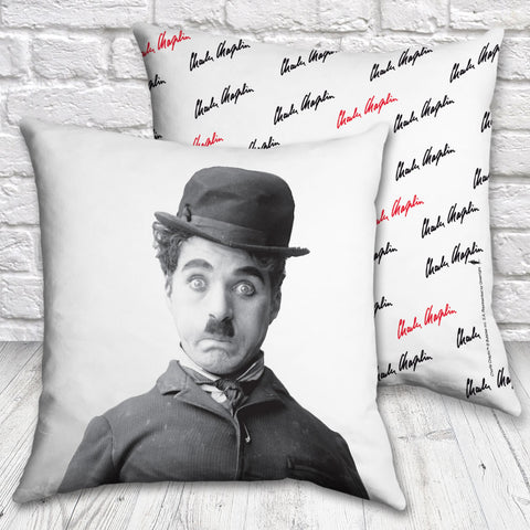 Charlie Chaplin Storyteller Cushion (Lifestyle)