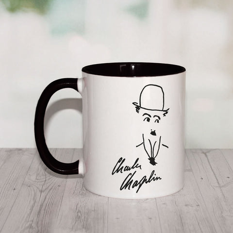 Charlie Chaplin Signature Coloured Insert Mug (Lifestyle)