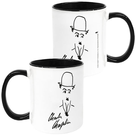 Charlie Chaplin Signature Coloured Insert Mug