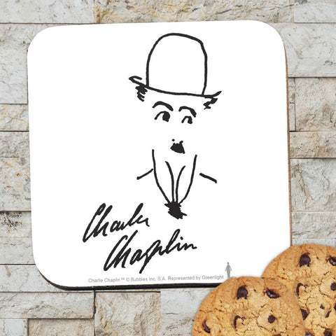Charlie Chaplin Signature Coaster (Lifestyle)
