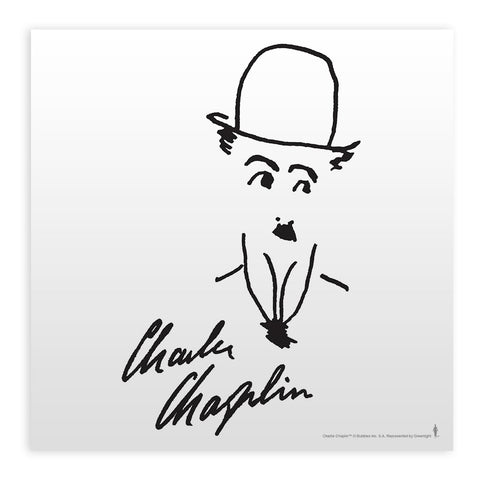 Charlie Chaplin Signature Mounted Art Print