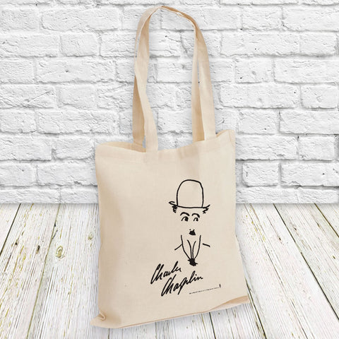 Charlie Chaplin Signature Tote Bag (Lifestyle)