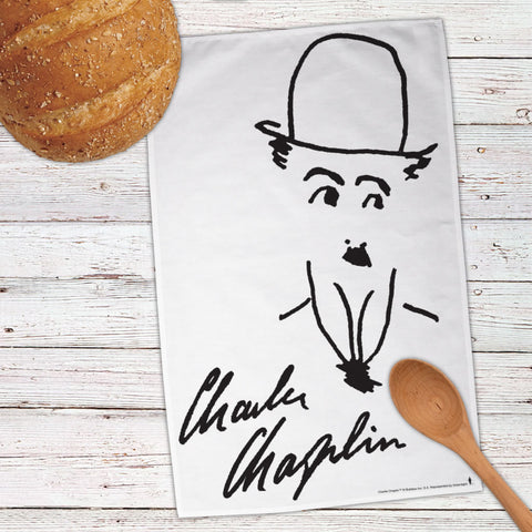 Charlie Chaplin Signature Tea Towel (Lifestyle)