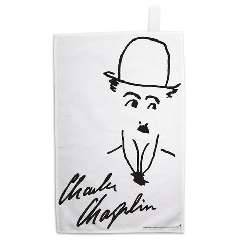 Charlie Chaplin Signature Tea Towel