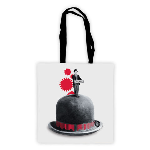 Charlie Chaplin Red Cogs Premium Tote