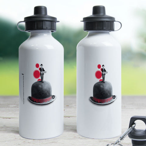 Charlie Chaplin Red Cogs Water Bottle (Lifestyle)