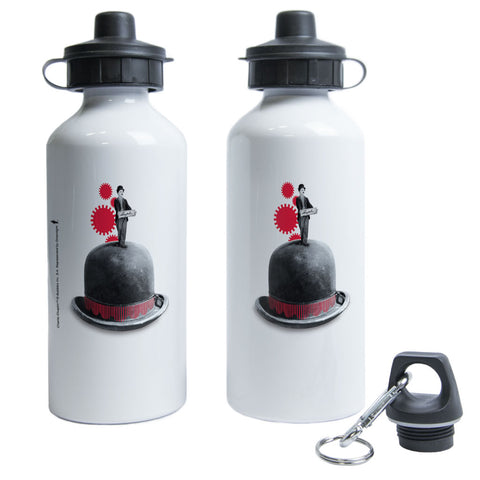 Charlie Chaplin Red Cogs Water Bottle