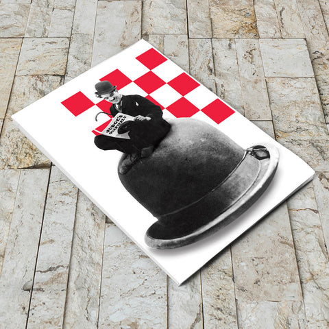 Charlie Chaplin Checkered Notepad (Lifestyle)