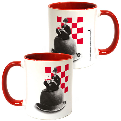 Charlie Chaplin Checkered Coloured Insert Mug