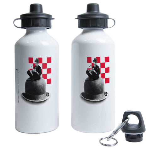 Charlie Chaplin Checkered Water Bottle